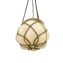 Macramé suspension lampe