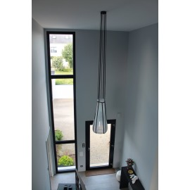 Lampe HELIUM Suspension Noir/ Couleur
