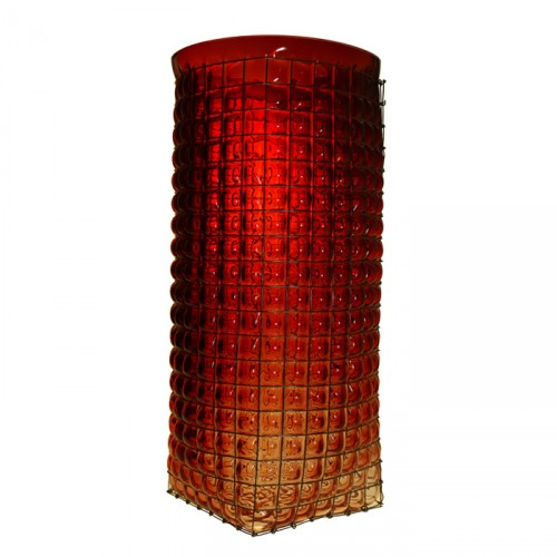 GRID Giant Vase Red