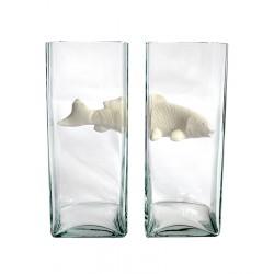 NO LIMIT Double Vase White