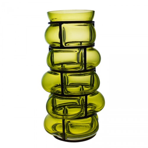 Vase BRICK Acid green