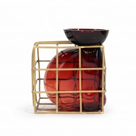 TRAPPED big vase grenat