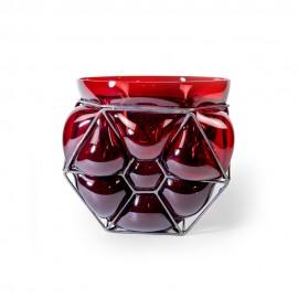 Vase FLOWER Grenat