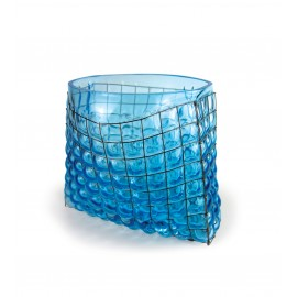 Vase GRID Bag Big Ice Blue