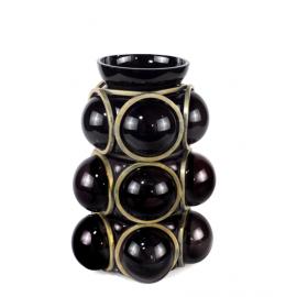 CIRCLE Vase Black & Gold