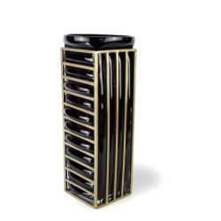 STRIPE Vase Black & Gold