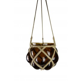 Macramé suspension pot