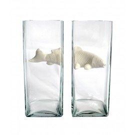 NO LIMIT Double Vase White