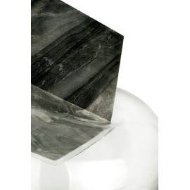 GRAVITY CUBE Sculpture Grey Marble