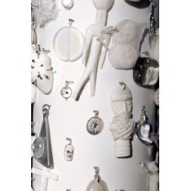 Vase AMULET  Big Black/White/Nature