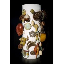 Vase AMULET Small Black/White/Nature