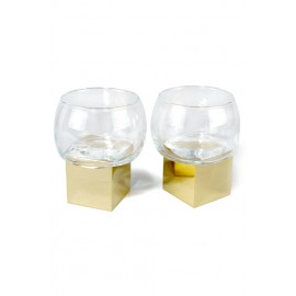 GRAVITY Cube Low Glass (Set of 2)