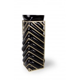 Vase GEOMETRIC ANGLE Black & Gold