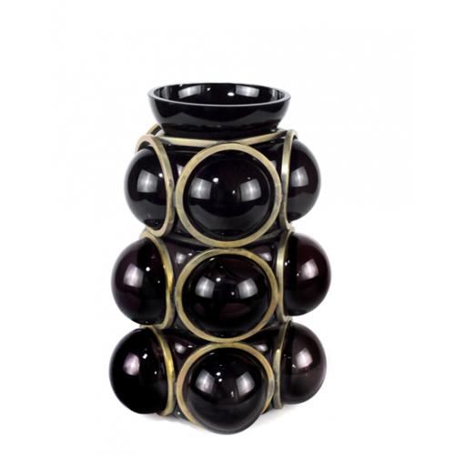 Vase CIRCLE Black & Gold