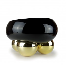 Coupe Dish 3 BALLS Black & Gold